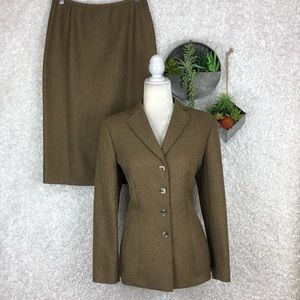 Le Suit Herringbone Skirt Suit | 8